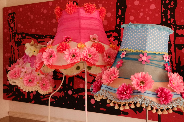 Lavishly flowery Lampshades